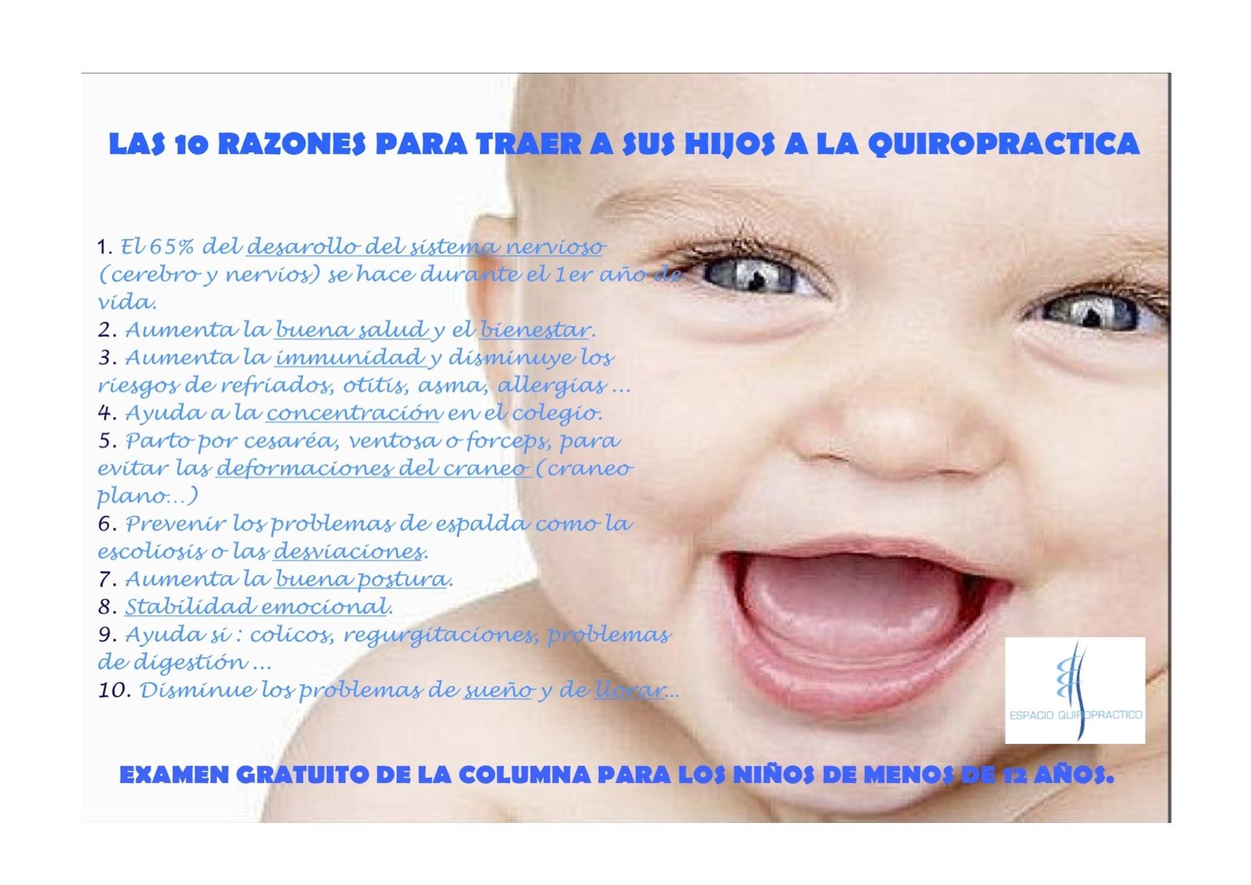 las 10 razones para traer a sus hijos a la quiropráctica